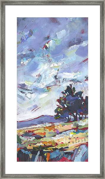 Framed Print featuring the painting Blue Juniper by Shelli Walters