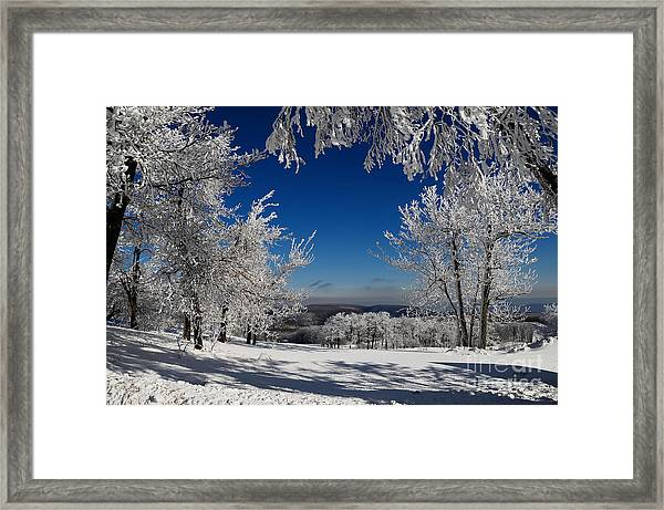 Framed Print featuring the photograph Blue Knob by Lois Bryan