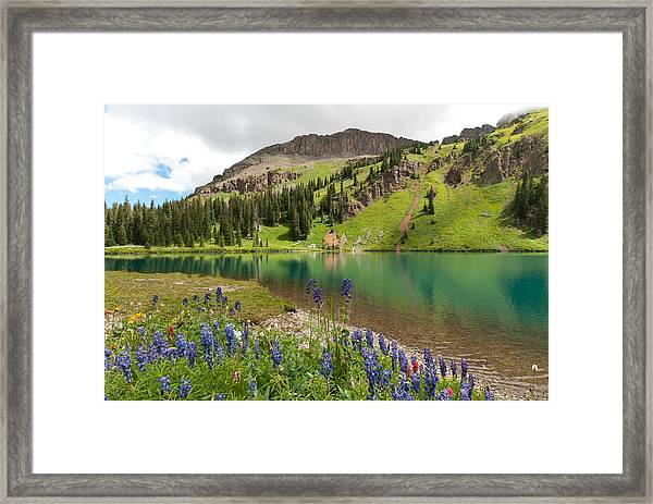 Blue Lakes Summer Splendor Framed Print