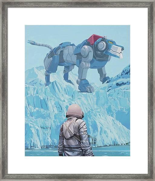Blue Lion Framed Print