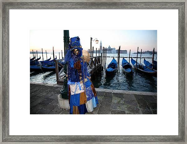 Blue Lips At Sunrise Framed Print