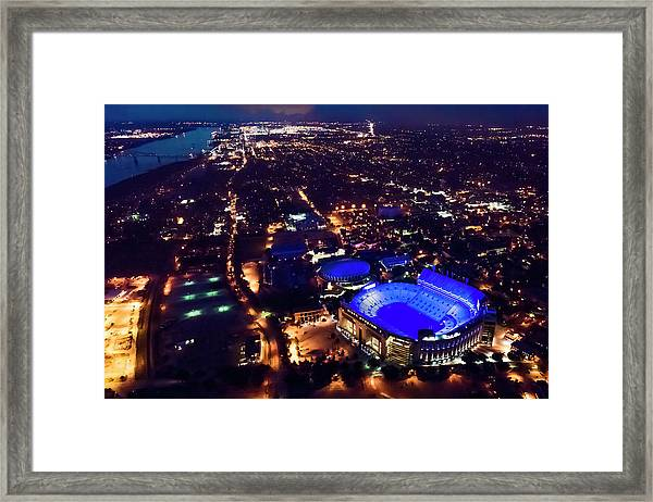 Blue Lsu Tiger Stadium Framed Print