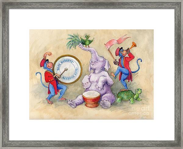 Blue Monkeys Circus Framed Print