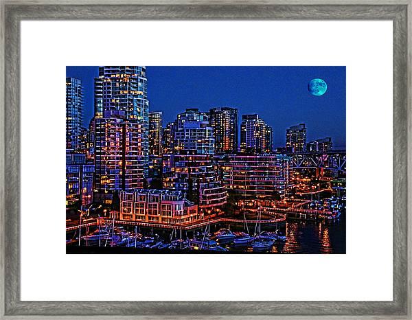 Blue Moon 2 Framed Print
