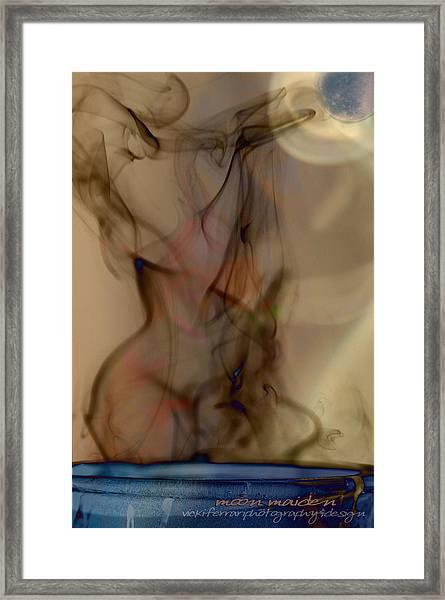 Blue Moon Maiden Framed Print
