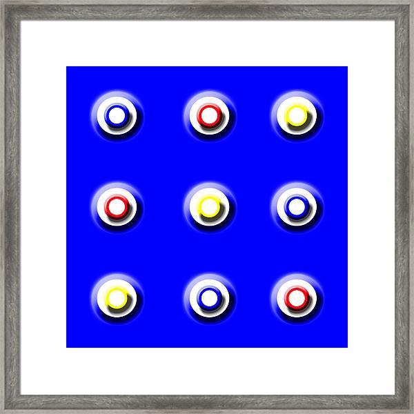 Blue Nine Squared Framed Print