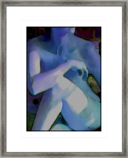 Blue Nude Framed Print by Vallee Johnson