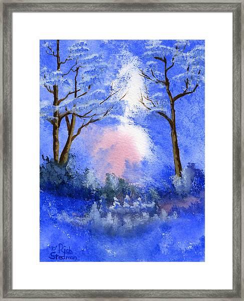 Blue On Blue Framed Print