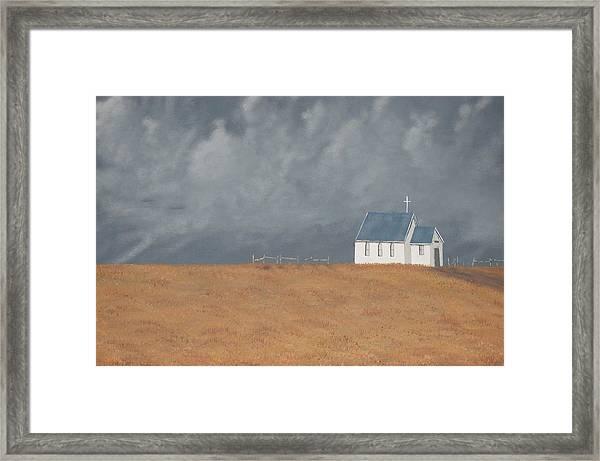 Blue Plains Church Framed Print by Candace Shockley