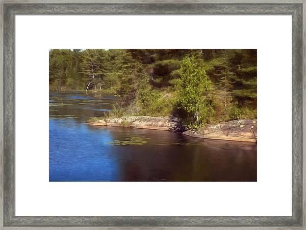 Blue Pond Marsh Framed Print