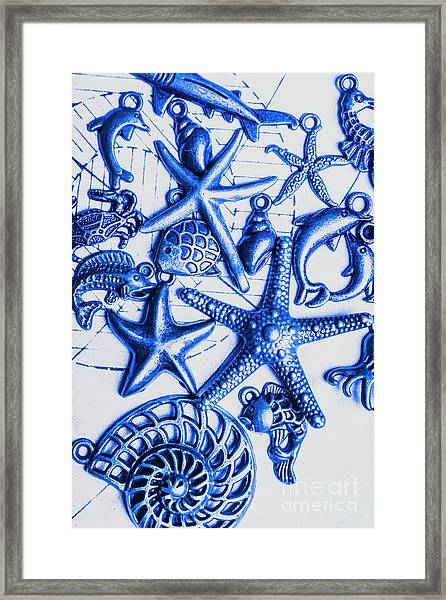 Blue Reef Abstract Framed Print