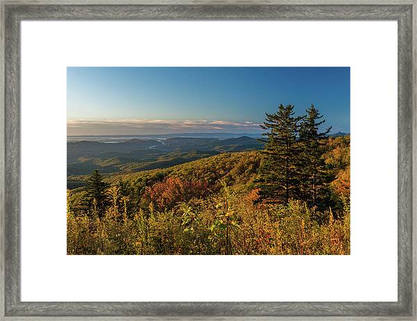 Blue Ridge Mountain Autumn Vista Framed Print