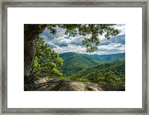 Blue Ridge Mountain View Framed Print