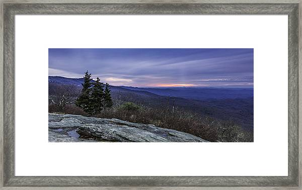 Blue Ridge Parkway Sunrise Framed Print
