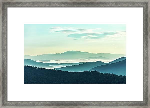 Blue Ridge Pastel Framed Print