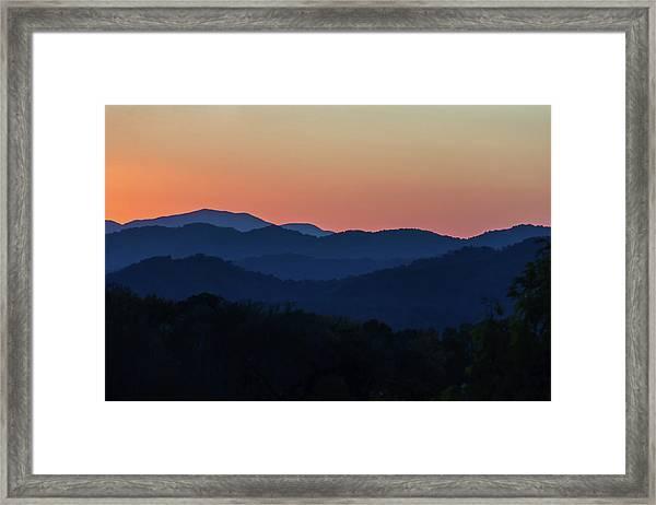 Blue Ridge Sunset Framed Print