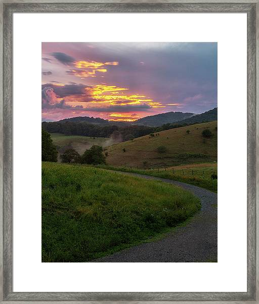 Blue Ridge Sunset Framed Print