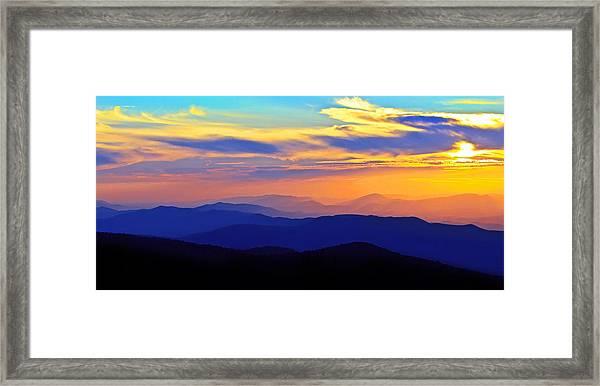 Blue Ridge Sunset, Virginia Framed Print