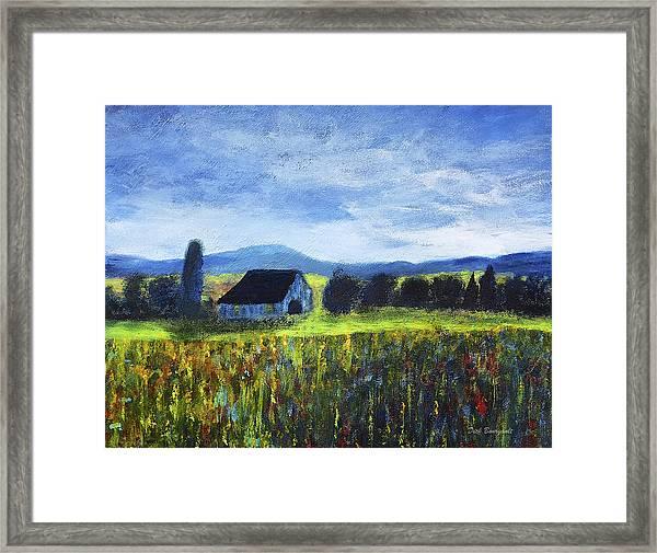 Blue Ridge Valley Framed Print
