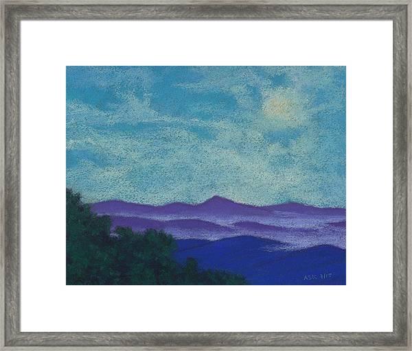 Blue Ridges Mist 1 Framed Print