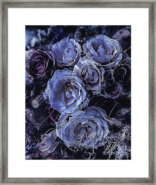 Blue Roses Art Framed Print