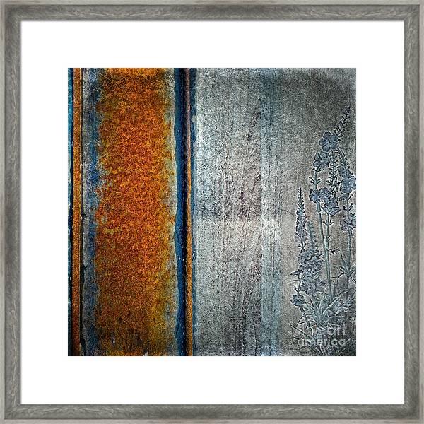 Blue Rust Framed Print