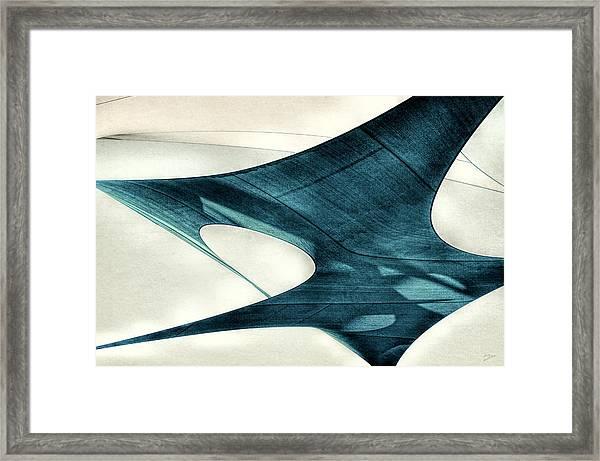 Blue Sails Framed Print