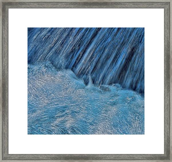 Blue Seam Framed Print