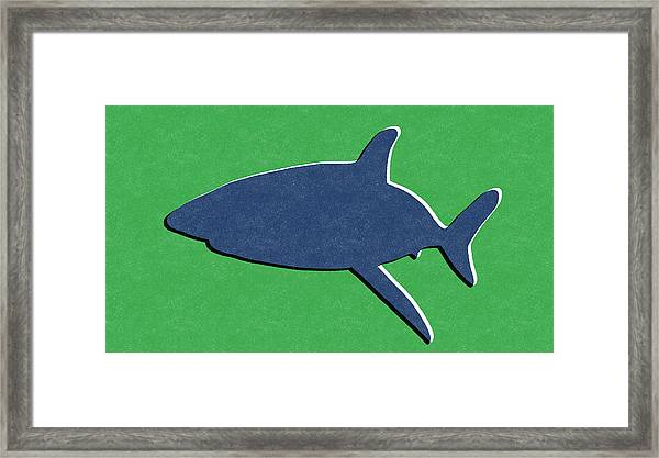 Blue Shark Framed Print