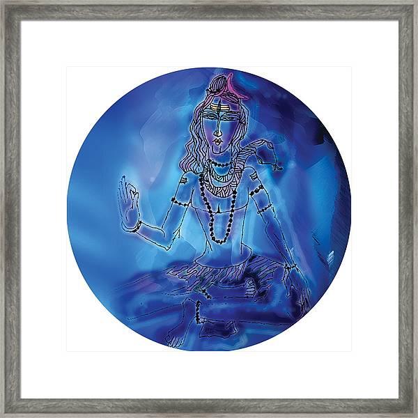 Blue Shiva  Framed Print