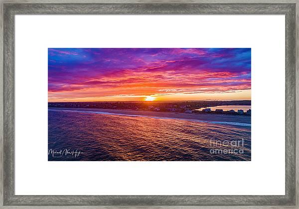 Blue Shutter East Beach Framed Print