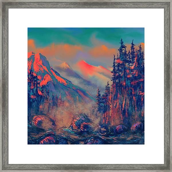 Blue Silence Framed Print