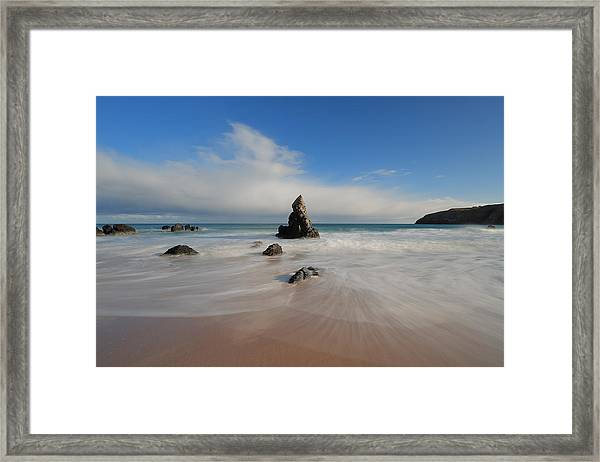Blue Skies Above Sango Bay Framed Print