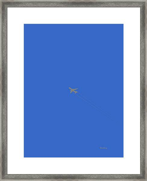 Blue Skies At Noon Framed Print