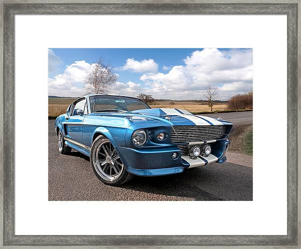 Blue Skies Cruising - 1967 Eleanor Mustang Framed Print