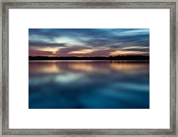 Blue Skies Of Reflection Framed Print