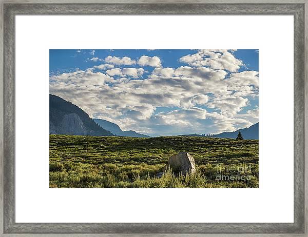 Blue Sky Monmouth  Framed Print