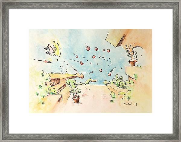 Blue Sky Terrace Framed Print