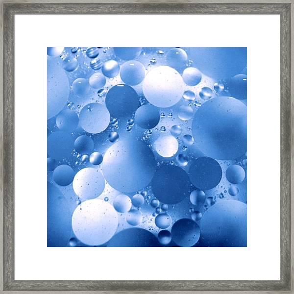 Blue Sphere Flow Framed Print