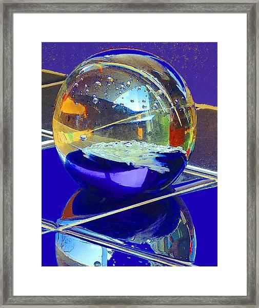 Blue Sphere Framed Print
