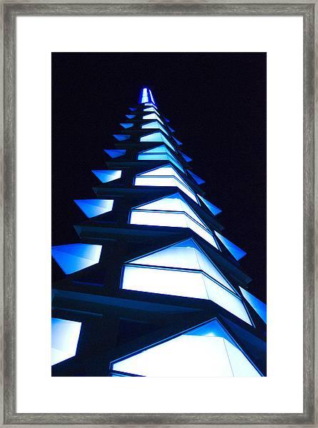 Blue Spire Framed Print
