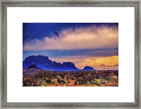 Blue Sunset Nm-az Framed Print