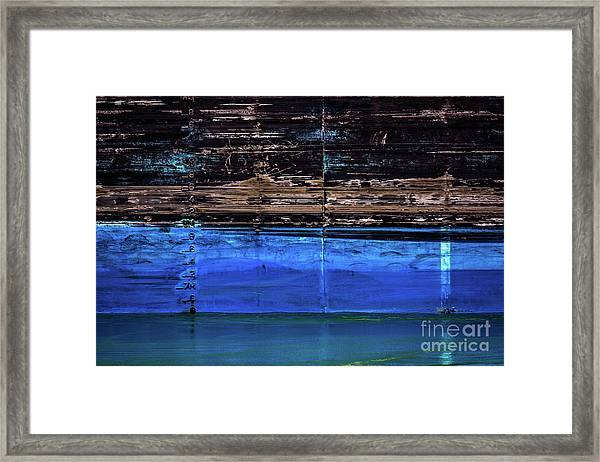 Blue Tanker Framed Print