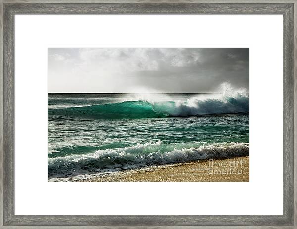 Blue Translucent Wave Framed Print