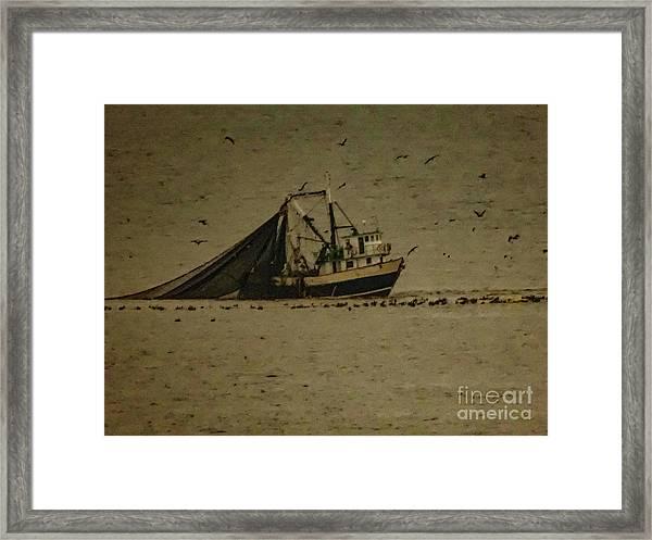 Blue Trawler 2 Framed Print