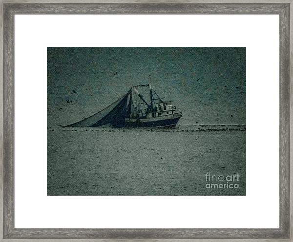 Blue Trawler 3 Framed Print