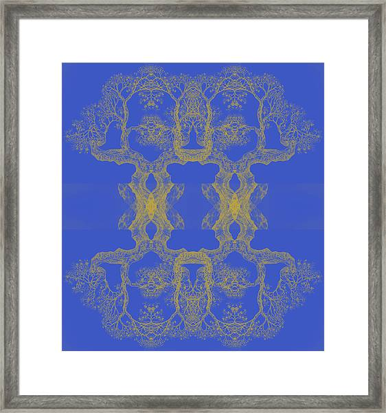 Blue Tree 14 Hybrid 4 Framed Print
