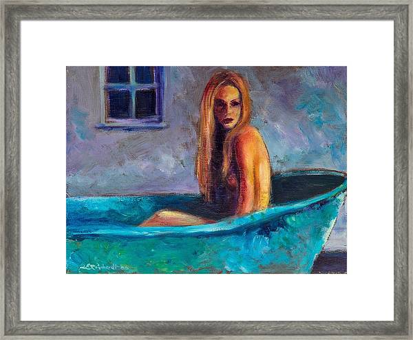 Blue Tub Study Framed Print