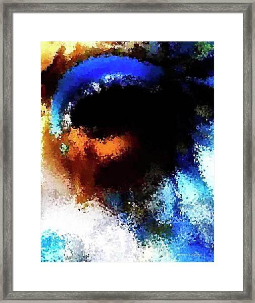 Blue Venice Mask Framed Print