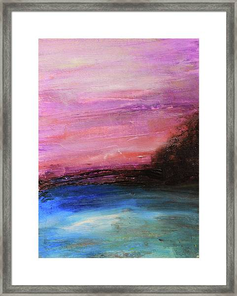 Blue Water Abstract Framed Print